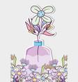 bouquet of flowers in mason jar vase vector image vector image