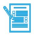 checklist and pencil vector image vector image