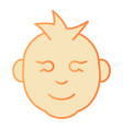 child boy face flat icon baby boy orange icons in vector image