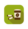 coffee to go drink in a paper cup flat vector image