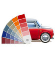 color palette for automobile vector image vector image