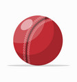 colorful red ball on white vector image vector image