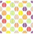 Colorful seamless brain pattern Scientific vector image vector image