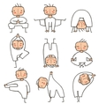 Comic Yoga Man Collection vector image