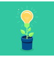 creative concept in flat style vector image vector image