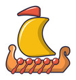drakkar viking ship icon cartoon style vector image vector image