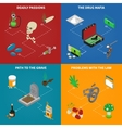 Drugs Addiction Concept Icons Set vector image vector image