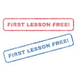 first lesson free exclamation textile stamps vector image vector image