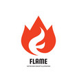 flame with abstract letter f - logo