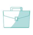 flat line briefcase design vector image