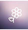 Flower thin line icon vector image