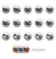 Folder Icons 1 MetalRound Series vector image vector image