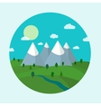 Forest and mountains landscape vector image vector image