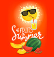 fruits summer concept vector image vector image