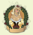 girl with a beer poster to beer festival vector image