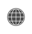 globe or world map glyph icon vector image vector image