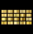gold metallic bronze silver chrome copper vector image vector image