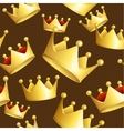 golden crowns background pattern vector image