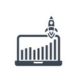 growth traffic glyph icon vector image