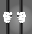 hand behind cage vector image