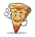 have an idea pizza character cartoon vector image