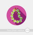 hawaii flowers necklace wreath icon vacation vector image vector image