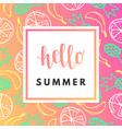 hello summer creative printable journaling vector image vector image