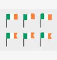 ireland flag icons set symbols flag of vector image