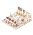 isometric coworking open space vector image