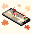 isometric location mobile geo tracking female vector image vector image
