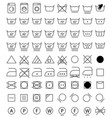 laundry icons washing symbols vector image vector image