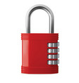lock with numeric code realistic 3d vector image