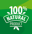 logo for 100 natural products on a green vector image vector image