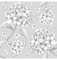 luxury hydrangea vector image vector image