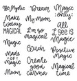 magical phrases collection vector image