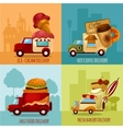 Mobile Food Delivery vector image