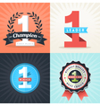 Number One First Place Winner ribbons and badges vector image vector image