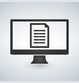 online electronic document on computer display vector image vector image