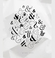 poster symbol ampersand vector image vector image