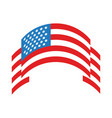 ribbon with usa flag flat style vector image vector image