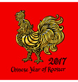 Rooster Chinese zodiac symbol of the 2017 year vector image vector image