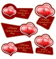 sale sticker with hearts vector image