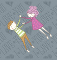 seamless card with couple 09 converted vector image vector image