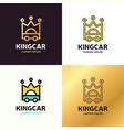 Set auto king car logo design template