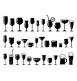 set glass for wine dessert and alcohol vector image vector image
