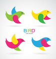 Set of bird design icons vector image vector image