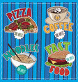 set of emblems of food and drink vector image