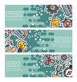 set of horizontal banners about physics vector image vector image
