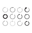 sets black circle arrows icons vector image vector image