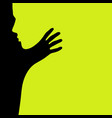 shadow strangles man vector image